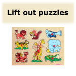 Lift out puzzles