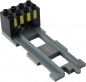 Preview: LEGO Duplo - Train Track End with End Brick 31442 / 6394pb01 (dark gray)