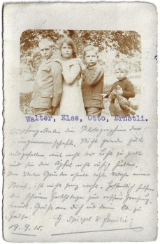 Postcard CH Allg. used 1915 - Familie Spiegel