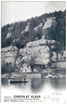Postcard CH BE used 1903 - Doubs et Jura
