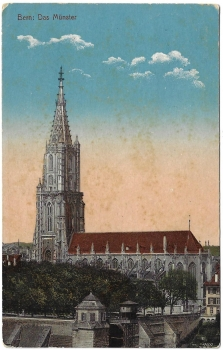 Postcard CH BE used 1910 - Bern - Das Münster