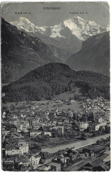 Postcard CH BE used 1912 - Interlaken