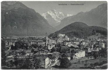 Postcard CH BE unused 19xx - Interlaken Generalansicht