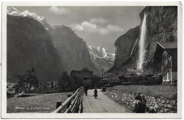 Postcard CH BE unused 19xx - Strasse in Lauterbrunnen
