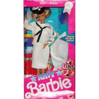 BARBIE - 09693 - 1990 Navy Barbie Doll