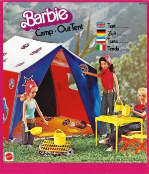 BARBIE - 1977 - 90-4288 Barbie Camp Out Tent