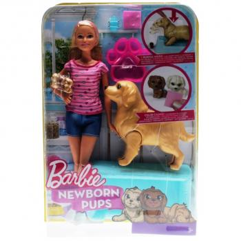 BARBIE - FDD43 Newborn Pups Doll & Pets
