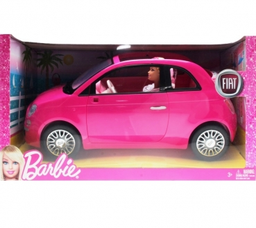 BARBIE - 2012 - Y6857 Barbie Doll And Fiat Vehicle pink