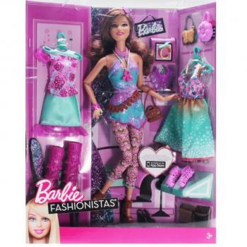 BARBIE - Y7501 - Teresa Fashionistas Fashion Fabulous Doll, Purple