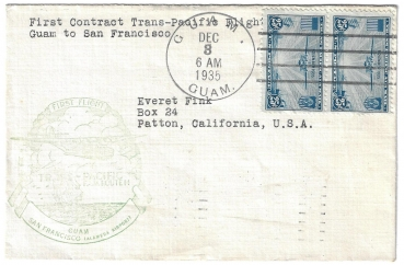 Brief USA 1935 - First Flight Guam - San Francisco