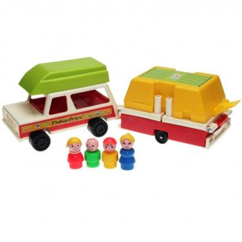 Fisher-Price - 1980 - Play Family Car & Pop-Up Camper 992