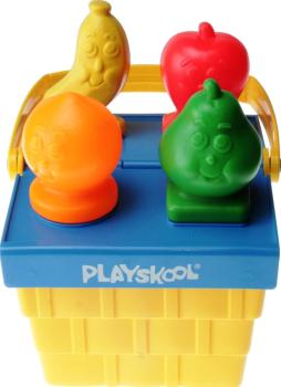 Playskool - 1980 Baby's Fruity Shape Sorter Picnic Basket