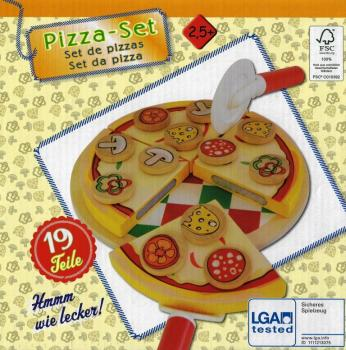 Food - Holz-Lebensmittel Pizza-Set 19 Teile