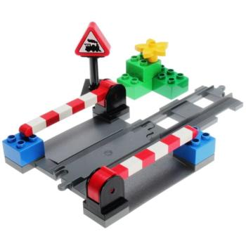 LEGO Duplo  3773 - Level Crossing  (dark bluish gray)