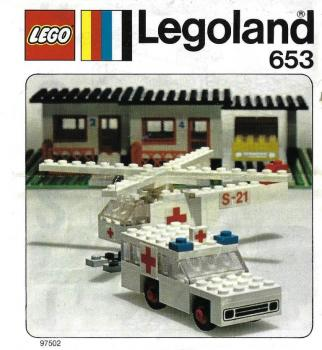 LEGO Legoland  653 - Ambulance and Helicopter
