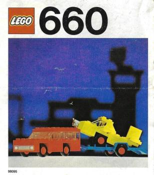 LEGO Legoland  660 - Car with Plane Transporter