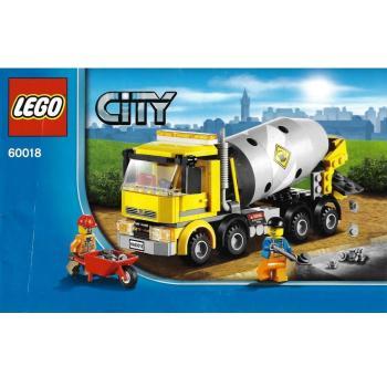 Lego City 60018 Cement Mixer Decotoys
