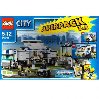 Lego City 66305 Police Super Pack 3 In 1 7235 7245 7743 Decotoys