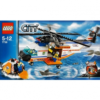 LEGO City  7738 - Coast Guard Helicopter and Life Raft