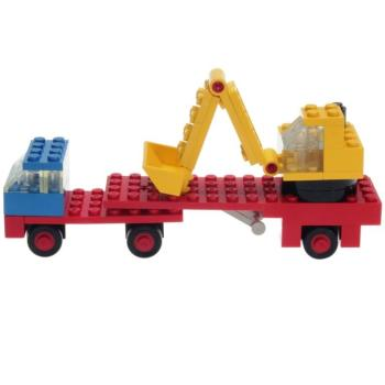 LEGO Legoland  649 - Low-loader with Excavator