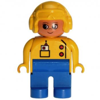 LEGO Duplo - Figure Female 4555pb107 (thin mouth)