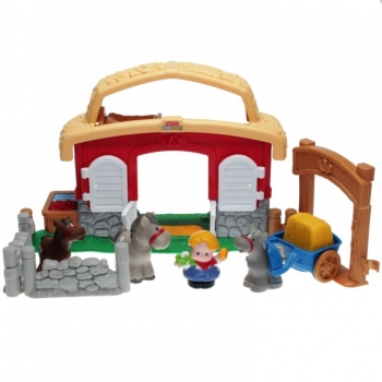 Fisher-Price Little People B8797 - Tierstimmen Pferdestall