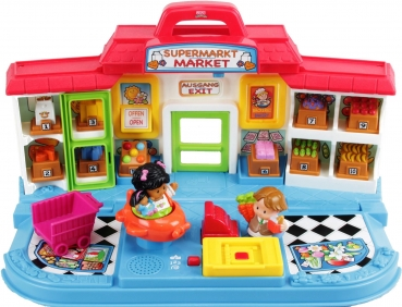 Fisher-Price Little People K6088 - Shop'n Learn Market Supermarkt Deutsch/Englisch