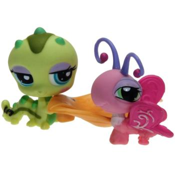 Littlest Pet Shop - Pet Pairs - 1323 Butterfly, 1324 Caterpillar