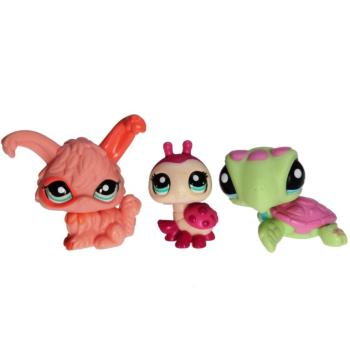Littlest Pet Shop - Tubes 2010 25843 - 1909 Ladybug, 1910 Sea Turtle, 1911 Rabbit
