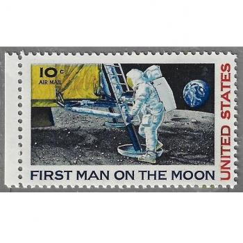"Briefmarken USA 1969 - First man on the moon - ""The unknown astronaut"""