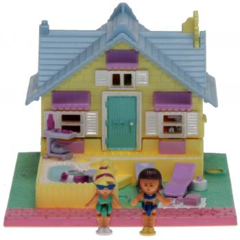 Polly Pocket Mini - 1993 - Pollyville - Summer House Bluebird 940251