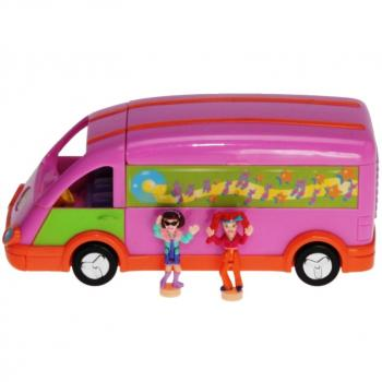 Polly Pocket Mini - 1998 - Tour Bus - Polly and the Pops - Mattel 21962