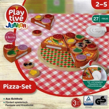 Food - Holz-Lebensmittel Pizza-Set 27 Teile