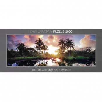 HEYE 29676 - Panoramapuzzle, Dennis Frates, AvH Palm Trees, 2000 Teile