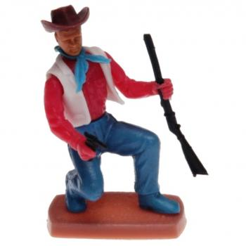 Plasty - Cowboy kneeling with Rifle and Pistol