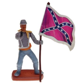 Plasty - Confederate Army Soldier standing with Flag