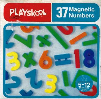 Playskool - 1977 - 37 Magnetic Numbers 419202971