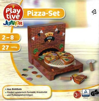 Food - Wood food pizza set