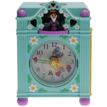 Polly Pocket Mini - 1991 - Funtime Clock blue