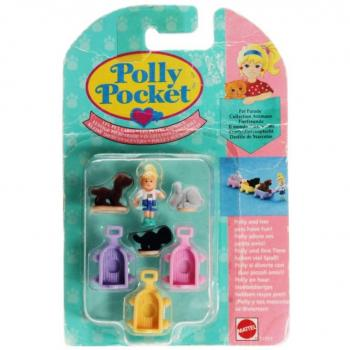 Polly Pocket Mini - 1993 - Pet Parade Lil Pet Carts Bluebird 950061