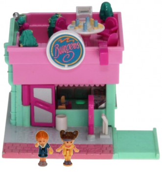 Polly Pocket Mini - 1994 - Pollyville - Polly's Burger Restaurant 950871