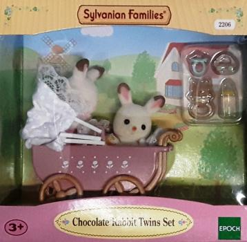 Sylvanian Families 2206 - Chocolate Rabbit Twins Set