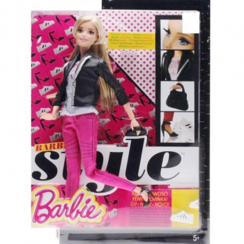 BARBIE - CFM76 Deluxe-Moden Fashionistas Barbie mit pinker Jeans