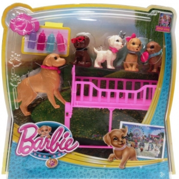 BARBIE - CLK39 Barbie & Her Sisters in the Great Puppy Adventure Playset