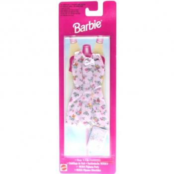 BARBIE - 1997 - Nachtwäsche MODEN - Sleep 'N Fun FASHIONS 68021 Blumen