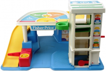 Fisher-Price - 1990 - Chunky Little People Parking Garage 2553 ***RARITÄT***