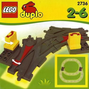 LEGO Duplo  2736 - Points (dark gray)