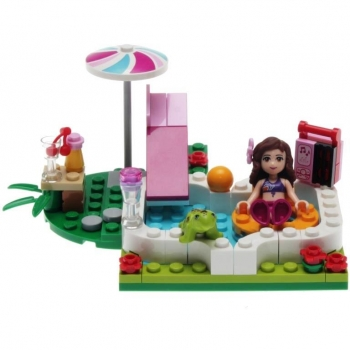 Lego friends 41090 olivias gartenpool decotoys for Gartenpool gebraucht