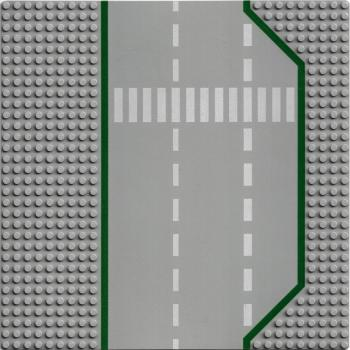 Lego Baseplate 32x32 light grey Road Straight with Crosswalk Pattern 425p02