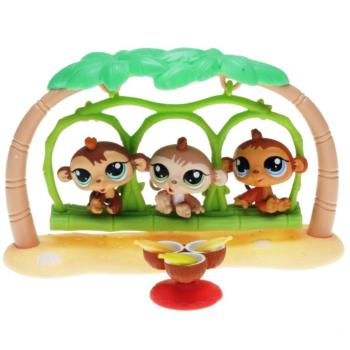 Littlest Pet Shop - Petriplets 18441 / 93631 - Monkey 1551, 1552, 1553